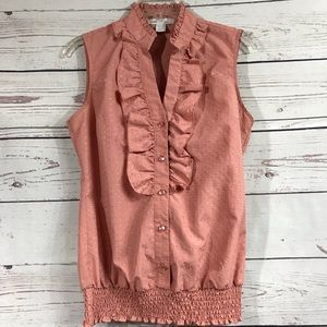 Dusty pink sleeveless blouse